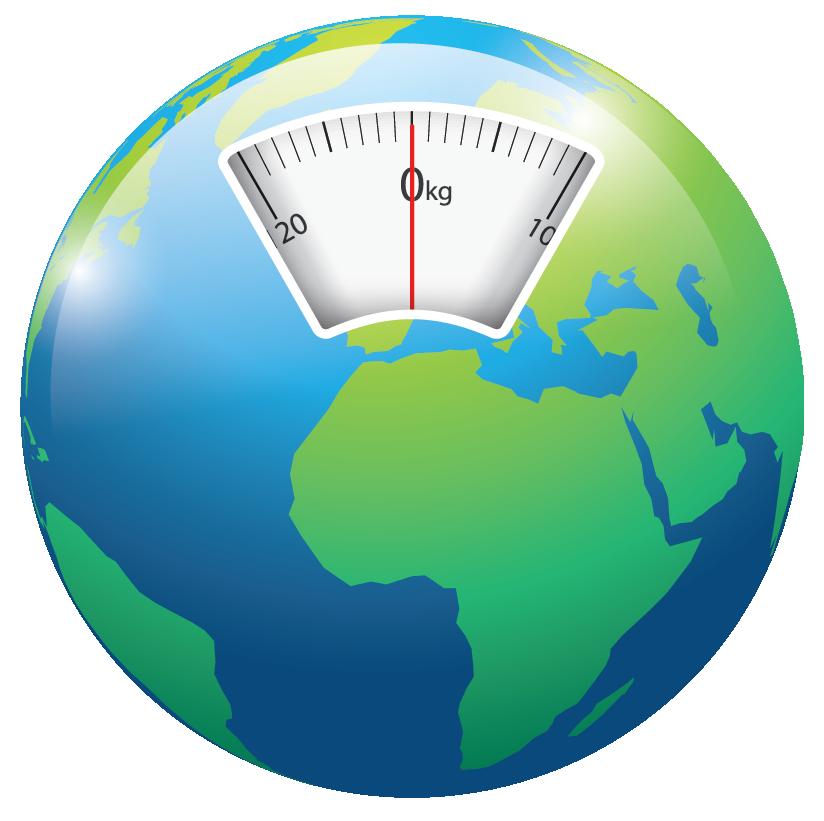 globe with bathroom scale window